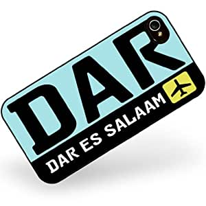 Rubber Case for iphone 4 4s Airport code DAR / Dar es Salaam country: Tanzania - Neonblond