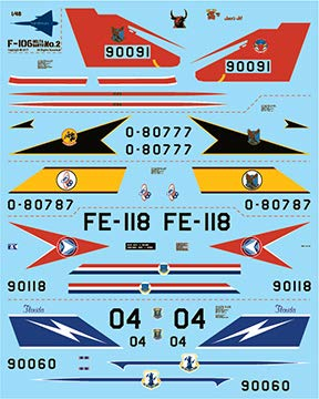 Fundekals 1/48 Scale Decals for Convair F-106 Delta for sale  Delivered anywhere in USA