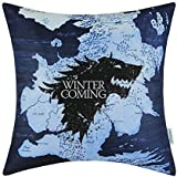 "Euphoria CaliTime Home Decor Square Pillow Covers A Game of Thrones Houses Stark Winter Is Coming 18"" X 18"""