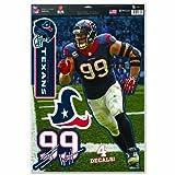 "NFL Houston Texans J.J. Watt Multi-Use Decal Sheet, 11""x17"", Team Color"