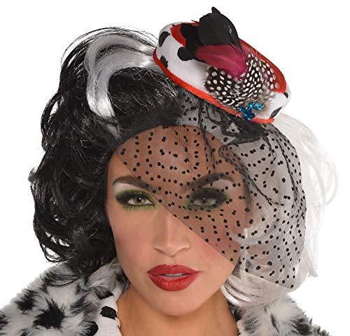 Suit Yourself Cruella De Vil Fascinator, 101 Dalmatians Halloween Costume Accessory, One Size]()