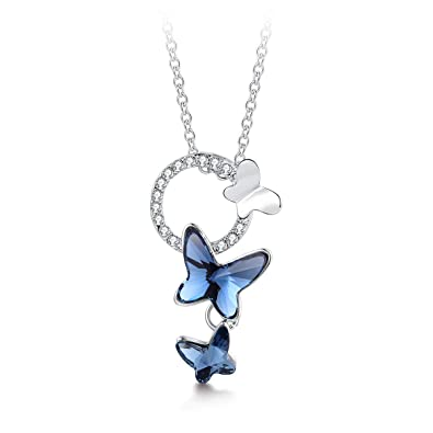 Jewelry & Watches 22D Silver PEWTER Love BUTTERFLY Life PENDANT Necklace