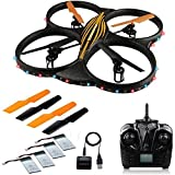 AKASO K88 Quadcopter 2.4GHz 4 CH 6 Axis Gyro RC Drone HD Camera Bundle with Battery and Charger