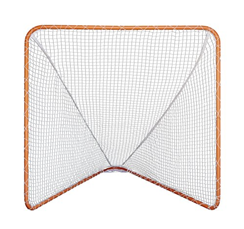 SWAGA Lacrosse Goal with Net - Orange 100% Steel Frame - 6 x 6 Foot by SWAGA