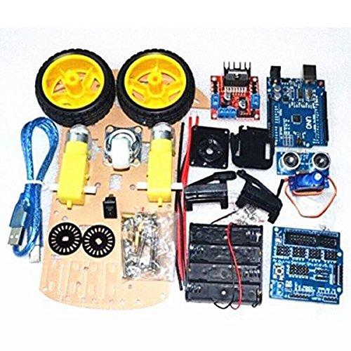 SODIAL Smart Car Tracking Motor Smart Robot Car Chassis 2WD Kit Ultrasonic HC-SR04 Sensor for Arduino (Sonic Robot)