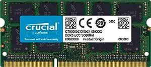 Crucial 8GB Single DDR3/DDR3L 1600 MT/s (PC3-12800) CL11 SODIMM 204-Pin 1.35V/1.5V Memory for Mac
