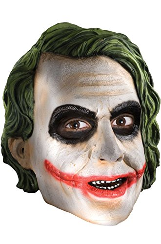 [Mememall Fashion The Dark Knight Rises The Joker Adult Costume Mask] (Dark Knight Costumes Real)
