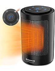 Boomersun 700 W/1500 W keramisk värmefläkt med automatisk oscillation, 2 steg 3 lägen bärbar energibesparande värmefläkt med timer för vardagsrum, kontor, terrass