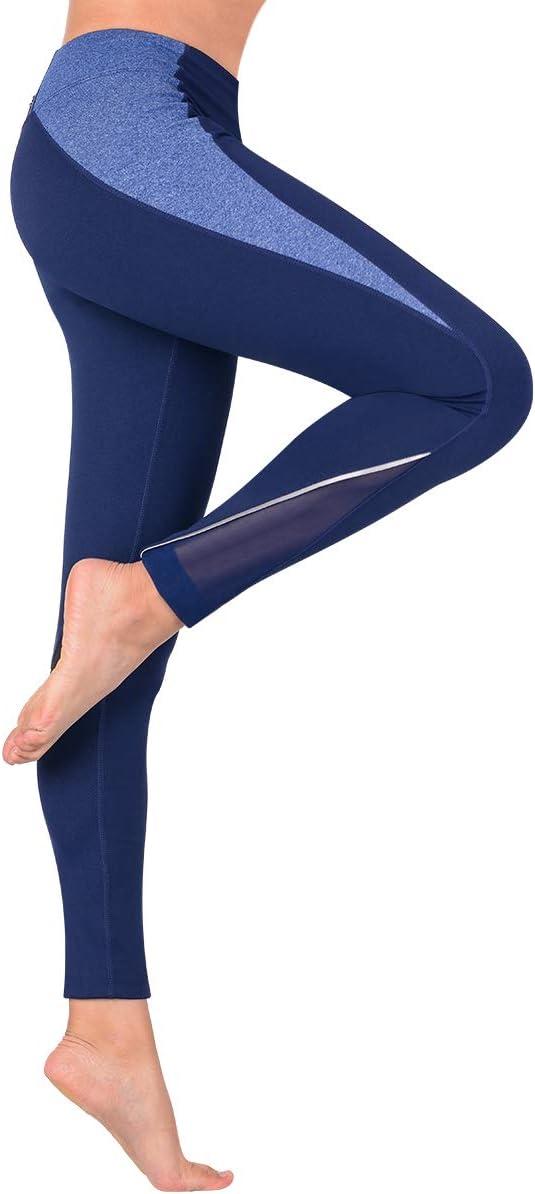Hivexagon Mallas Deportivas de Mujer Pantalones Deportivos de Cintura Alta y El/ásticos para Yoga Corriendo Fitness Pilates
