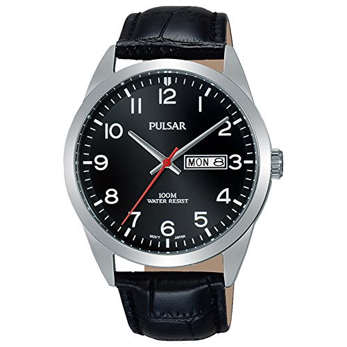(Pulsar PJ6067X1 Mens Classic Watch, Black dial)