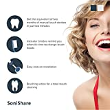 SoniShare Premium Replacement Brush Heads for Oral B Precision Clean Toothbrushes, 4 Pack