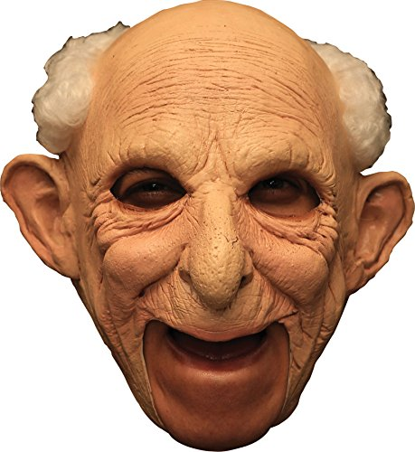 UHC Old Man Deluxe Chinless Gus Gramps Theme Party Latex Halloween Costume (Gus Halloween Mask)