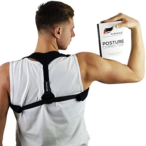 Posture corrector for women men & kids – back wearable & easy adjustable clavicle brace – unnoticeable & comfortable shoulder support for sitting, slouching & hunching, sports,… by (Large Location Deluxe Kit)