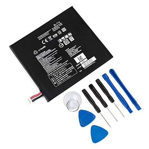 Tanaka Replacement Battery BL-T14 EAC62638401 Compatible LG G Pad 8.0 V480 V490 V495 V496 G Pad F 8.0 G Pad F7 Series with Tools 3.7V 4200mAh by TANAKA