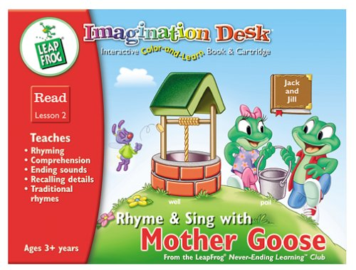 Imagination Desk: Rhyme and Sing with Mother Goose Interactive Color-And-Learn Activity Book and Cartridge by LeapFrog (Image #1)