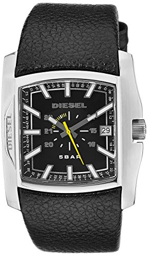 Diesel Men's Quartz Stainless Steel and Leather Casual Watch, Color:Black (Model: DZ1178)