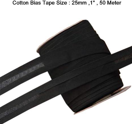 1 Inch 25mm COTTON BIAS BINDING TAPE 50 Meter Roll