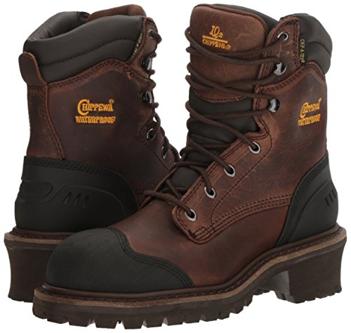 Chippewa Men's 8 Inch Chocolate Oiled Waterproof Comp Toe Logger Boot,Brown,8.5 M US by Chippewa (Image #6)