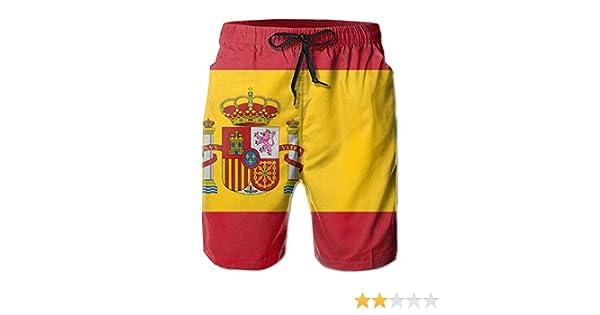 Hombres Bandera de España Pantalones Cortos de Playa de Secado rápido de Verano Wimm Surf Trunk Pantalón XXL: Amazon.es: Ropa y accesorios