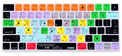 XSKN Magic Keyboard Ableton Live Shortcut Keyboard Cover, Durable Ableton Hotkeys Silicone Keyboard Skin for Apple Magic Keyboard MLA22LL/A (Best Ableton Live 9 Tutorials)