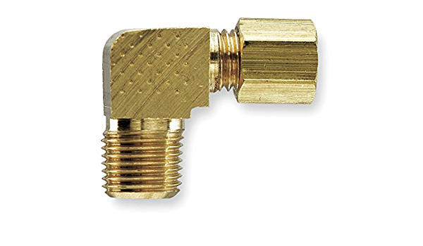 1//2 Compression Tube x 3//8 Male Thread Parker Hannifin 169CA-8-6 Forged Brass Male Elbow Compress-Align Fitting