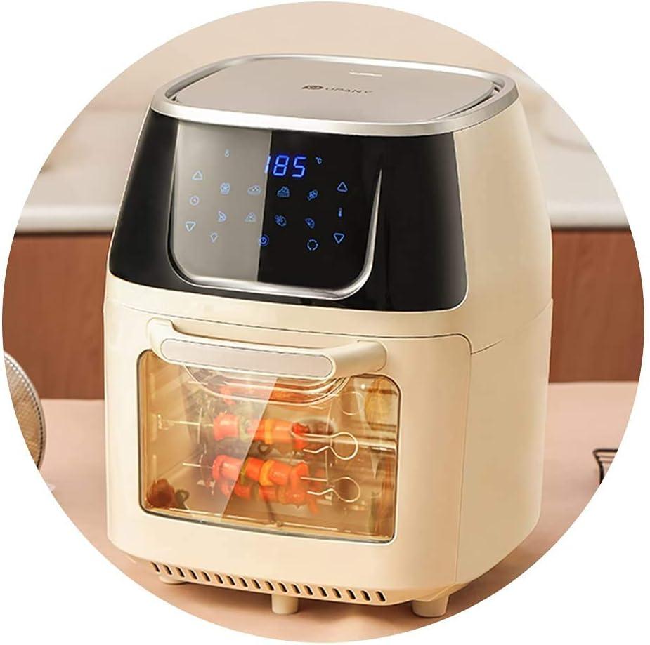 Horno de aire visualizado Horno automático Máquina de frutos secos de gran capacidad para aire libre eléctrico (color: blanco, Tamaño: 29.5 * 36,5cm) WTZ012 (Color : White, Size : 29.5 * 36.5cm)