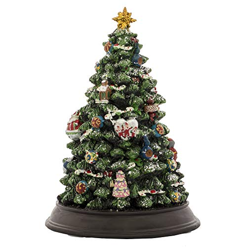 Musicbox Kingdom Decorated Muiscal Tree is Lighted Up and Plays 8 Electronic Christmas Carols. Height 30 cm