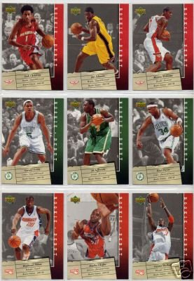 2006 07 Upper Deck Rookie Debut Basketball Cards Complete Veterans Set (100 cards)- Includes Chris Paul, Lebron James, Dwyane Wade, Shaquille O'Neal, Carmelo Anthony, Allen Iverson, Kobe Bryant, Yao Ming, Kevin Garnett, Tim Duncan, and other NBA superstars- Shipped in protective display case!