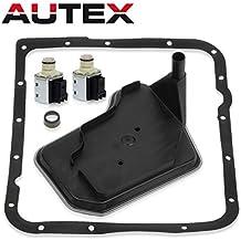 AUTEX 2PCS 4L60E Transmission Shift Solenoid Valve with Filter Gasket Kit Set A&B for 98-Up Chevrolet Pontiac GM Trucks
