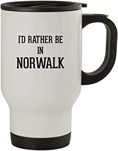 I'd Rather Be In NORWALK - Stainless Steel 14oz Travel Mug, White
