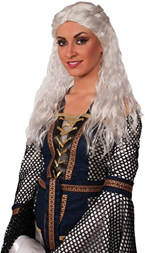 [Medieval Lady Faire White Wig] (Daenerys Costume For Sale)
