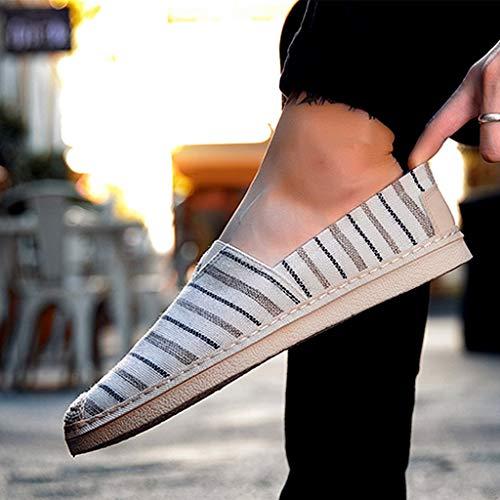 scarpe scarpe selvaggia Color 42 di da tela di uomo Size Bianca Scarpe tela casual scarpe da denim estiva tendenza Bianca WangKuanHome uomo qPAw6fP