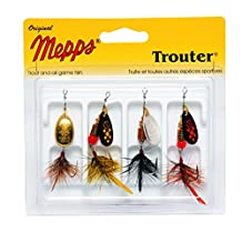 Mepps Trouter Dressed Assortment, Single Siwash Hook