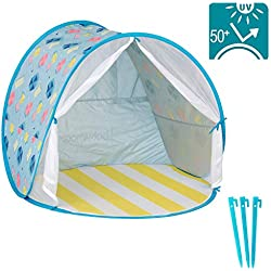 Babymoov Anti-UV Beach Tent | UPF 50+ Sun Protection with Pop Up System for Easy Use and Travel (SUMMER 2019 ESSENTIAL)