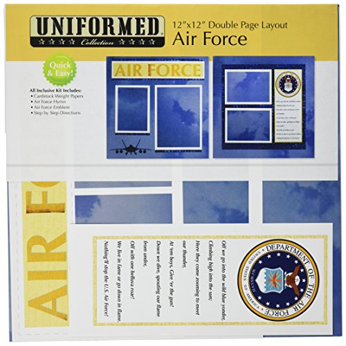 Uniformed U.S. Air Force 2 Page Layout