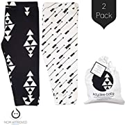 Kaydee Baby Leggings Variety of Options - Set of 2 Gift Set (Ages 0-24 Months) (0-3 Months, Arrows & Triangles)