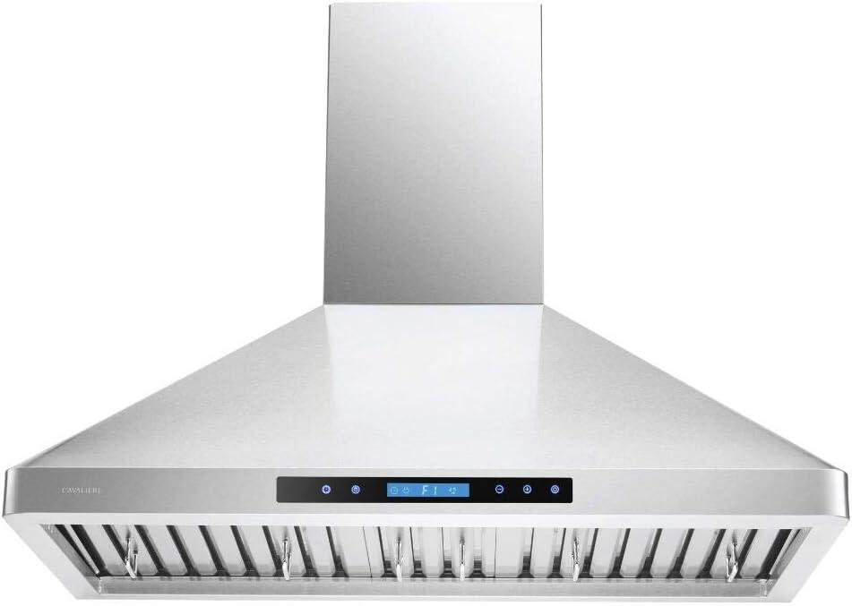 "CAVALIERE 36"" Inch Wall Mounted Stainless Steel Kitchen Range Hood 900 CFM"