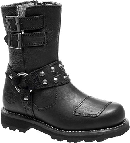 Harley-Davidson Women's MARMORA Work Boot Black 7.5 M US