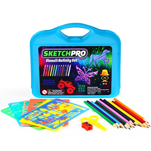 55 PC Stencil Drawing Kit Case product image