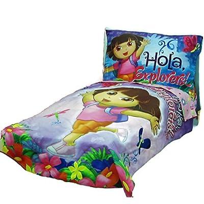 Dora Hola Explorer (Flat Top Sheet Only) Size Toddler Girls Kids Bedding: Baby
