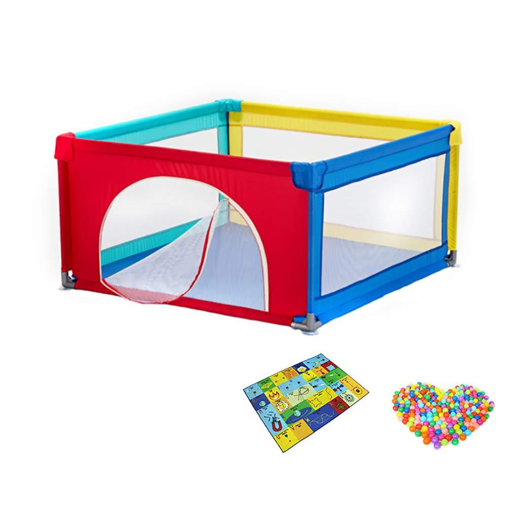 ベビーサークル 幼児の遊び場幼児の遊び場、クロールマットと100のボール、ホームチャイルドセーフティフェンスの遊び場 (サイズ さいず : 120x120x68cm)   B07KZXHKM5