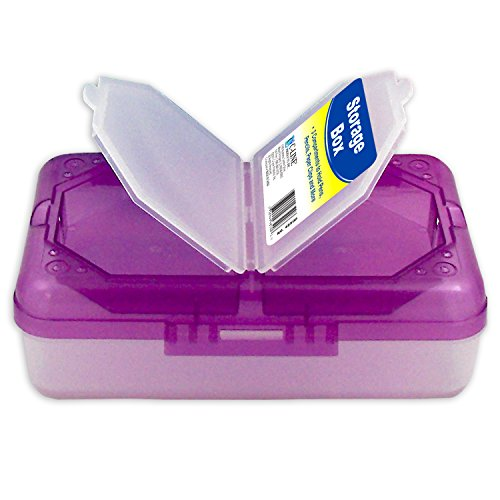 Cline Polypropylene Report Cover - C-Line Poly 3-Compartment Storage Box with Snap Lid, 1 Storage Box, Color May Vary (48500)