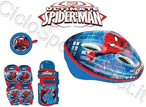 Kit Spiderman Niño / Niño Bicicleta Casco + Timbre+Botella+ ...