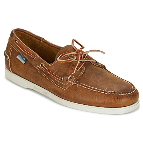 DD Brown Cognac Leather Docksides Sebago B72639 EqWPPF