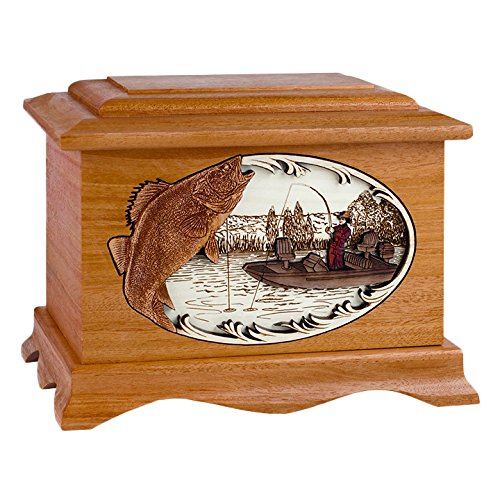 Wood Cremation Urn - Mahogany Walleye Fishing Boat Ambassador (Boats Mahogany Wood)