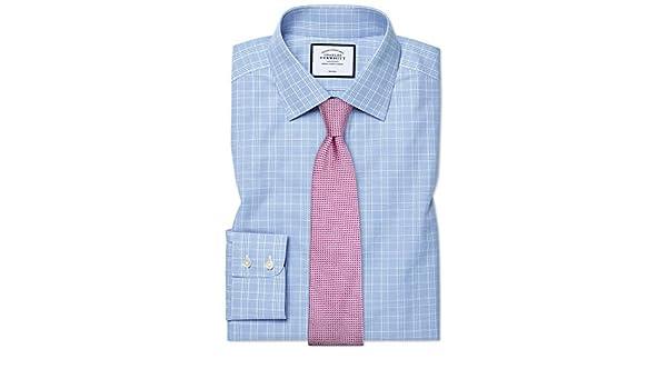 Charles Tyrwhitt Camisa Azul Celeste de Corte clásico a ...