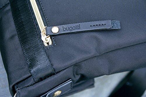 bugatti - Bolso bandolera de nailon  Mujer negro