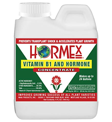 Hormex Vitamin B1 Rooting Hormone Concentrate | Prevents Transplant Shock | Accelerates Growth | Stimulates Roots | For All Plant Varieties & Grow Mediums Including Hydroponics (4 oz)