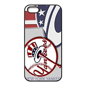 Happy New York Yankees Fashion Comstom Plastic case cover For Iphone 5s