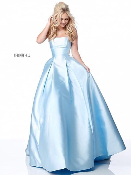 1d6bd9909e Sherri hill Abito a Campana Azzurro 42: Amazon.it: Abbigliamento